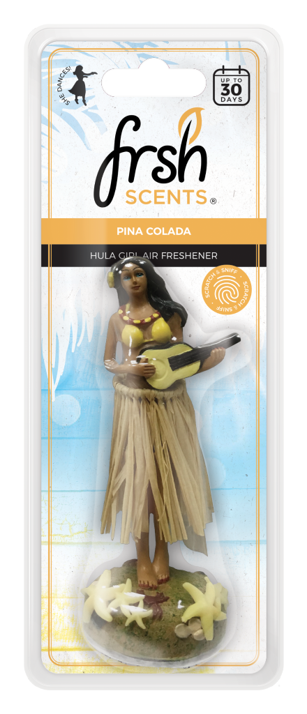 Frsh SCENTS hula girl air freshner PINA COLADA